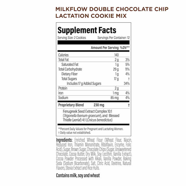 Upspring Milkflow Lactation Cookie Mix For Breastfeeding Double Chocolate Chip