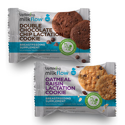 Milkflow Baked Lactation Cookies Sample, Double Chocolate & Oatmeal Raisin