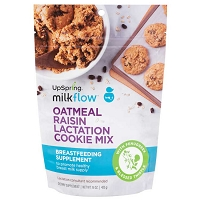NEW! UpSpring Milkflow Fenugreek Oatmeal Raisin Lactation Cookie Mix