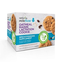 NEW! UpSpring Milkflow Fenugreek Oatmeal Raisin Lactation Cookies, 20 count